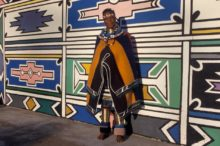 Ndebele woman, traditional tribal clothing